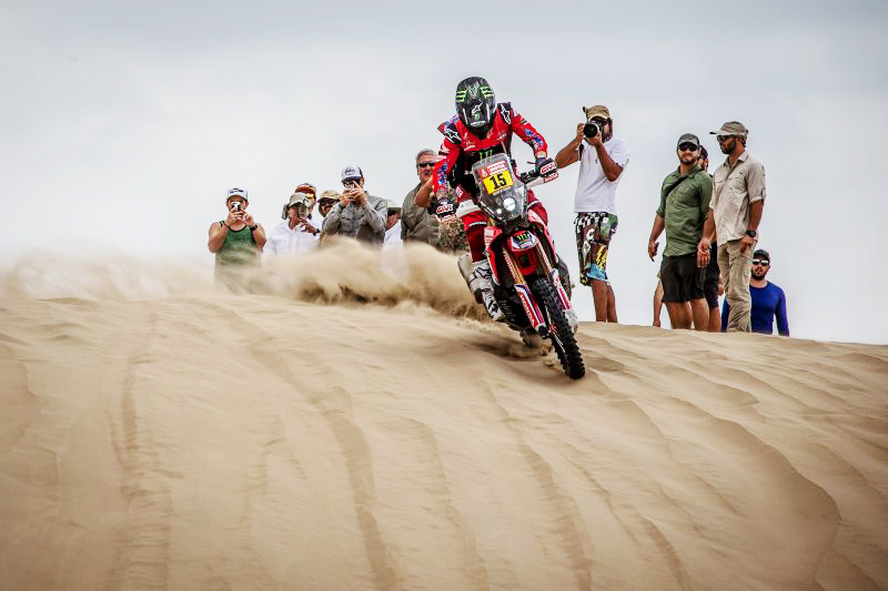 "Ricky Brabec: ""The stage was not very long, but there were many dunes and a lot of people."""
